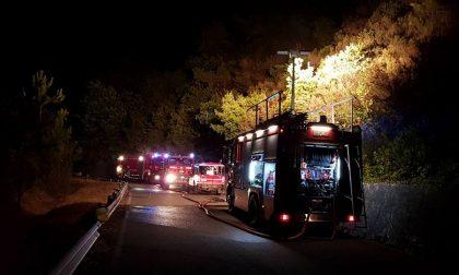 Incendio a Novano divampato nella notte