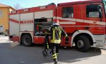 Camion in fiamme in A12