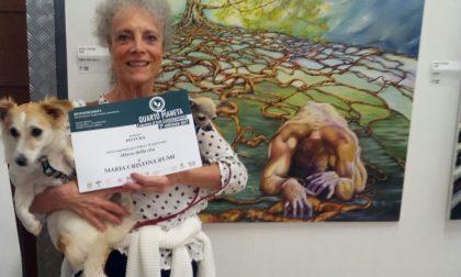 La pittrice lavagnese Maria Cristina Rumi si distingue al premio d'arte Quarto Pianeta