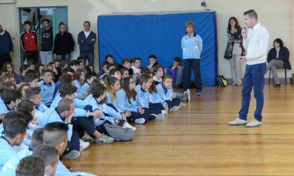 Catellani ha raccontato la sua storia al liceo King di Genova