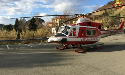 Cicagna: Anziano cade dalle scale, in elicottero al San Martino