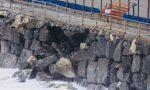 Mareggiata: crolla nuovamente il muro del campo sportivo della Secca a Moneglia