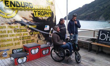 A Riva Trigoso la tappa di Enduro che aiuta «Noi Handiamo»