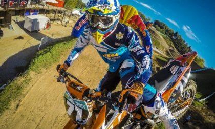 Cade in pista, motociclista al San Martino