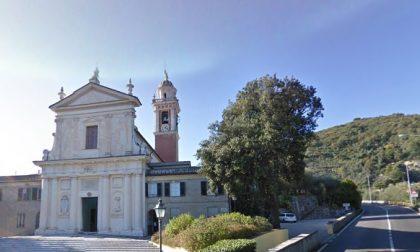 Un semaforo sull'Aurelia a Bacezza