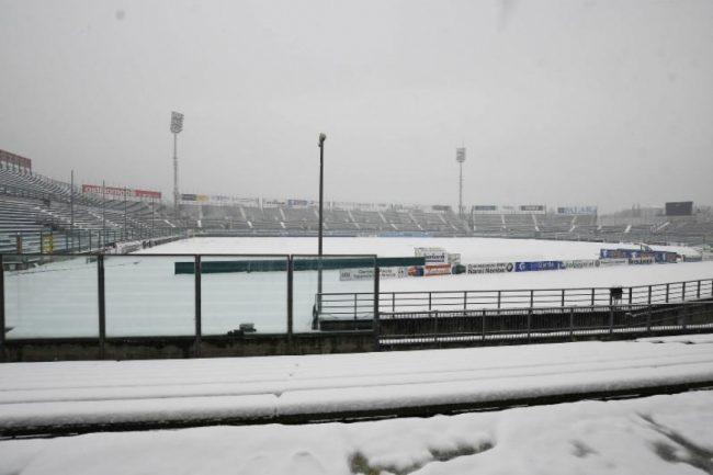 Serie B, rinviata per neve Brescia-Virtus Entella: a rischio altre partite