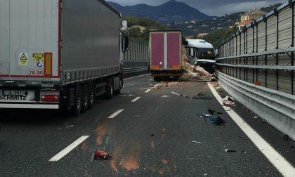 Incidente in autostrada tra Sestri Levante e Lavagna