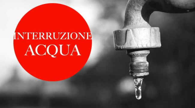 A Rapallo interruzione fornitura idrica per intervento di manutenzione