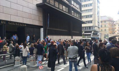 Genova, allarme bomba al tribunale