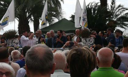 Piazza Matteotti piena per Matteo Salvini