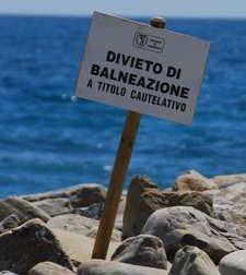 Rapallo, divieto di balneazione dopo i controlli Arpal