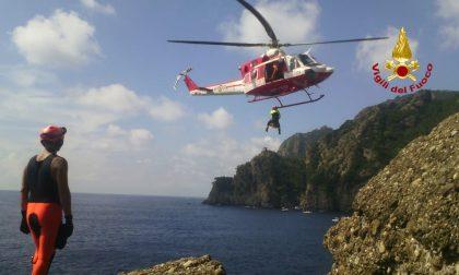Portofino, complicato intervento di soccorso dei Vigili del Fuoco