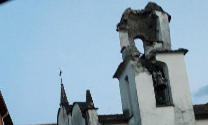Temporali: a Beverino crolla il campanile