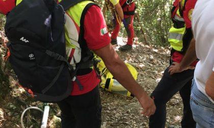 Intervento sul Monte di Portofino: donna si fa male sul sentiero per San Fruttuoso