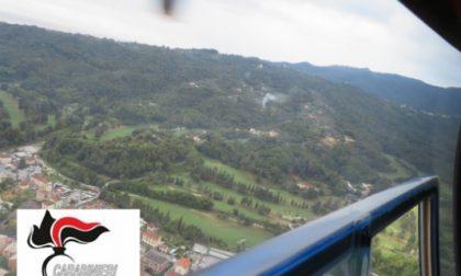 Roghi abusivi scoperti dall'elicottero: 30mila euro di maxi multe