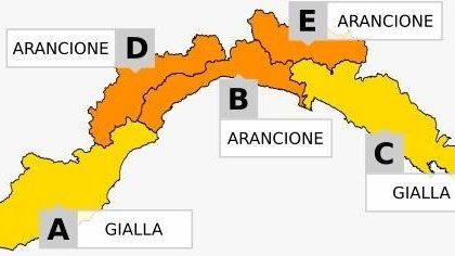 Domani allerta meteo gialla nel Tigullio, arancione nel Golfo Paradiso e Val d'Aveto