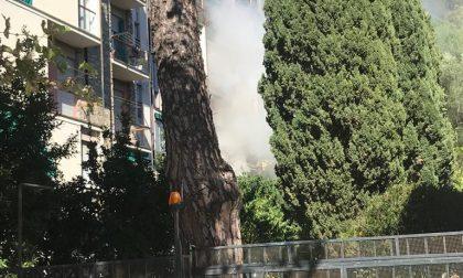 Chiavari, fuoco in un appartamento