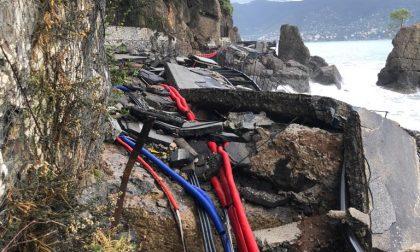 Portofino isolato, la strada provinciale 227 non esiste più
