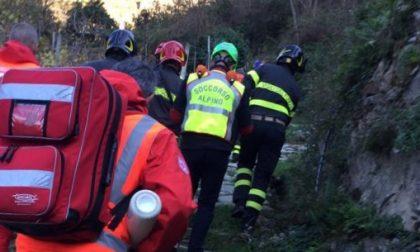 Cade dalla bici alle Rocche di Sant'Anna: soccorso dal Soccorso Alpino e Speleologico Liguria