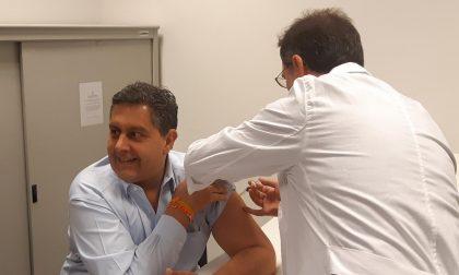 Anche Toti ha fatto il vaccino antinfluenzale
