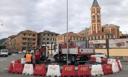 Chiavari, al via i lavori per la rotatoria fra via Trieste e viale Marconi