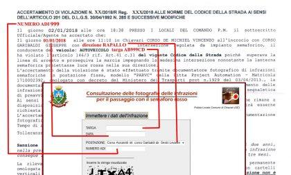 Chiavari, novità Photored: si può consultare on line la documentazione fotografica dell'infrazione