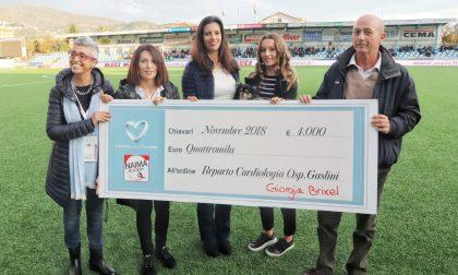 Entella, raccolti undicimila euro per gli sfollati e quattromila per il Gaslini