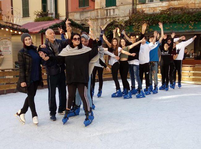 I ragazzi del Caboto danzano sul ghiaccio