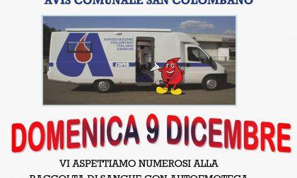 Domani raccolta di sangue a San Colombano