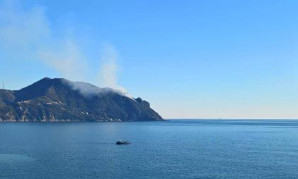 Incendio sul Monte di Portofino