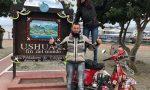 Fabio Salini in sella alla sua Vespa arriva fino in Sud America