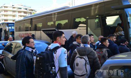 Centinaia di tifosi dell'Entella in partenza per Roma