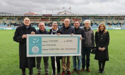 L'Entella devolve 28mila euro al Gaslini