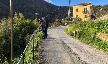 Riqualificazione della strada per Maxena, Campodonico e Sanguineto, sopralluogo di Di Capua