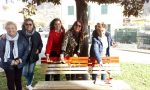 8 marzo, una panchina rossa a Cogorno