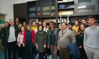 Ieri Ilaria Cavo all'istituto Natta di Sestri Levante