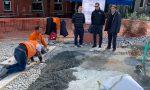 Portofino: sopralluogo di Giampedrone al cantiere in piazzetta