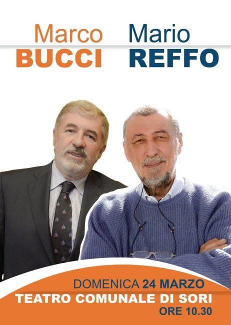 Il sindaco di Genova Marco Bucci  presenta il candidato Mario  Reffo