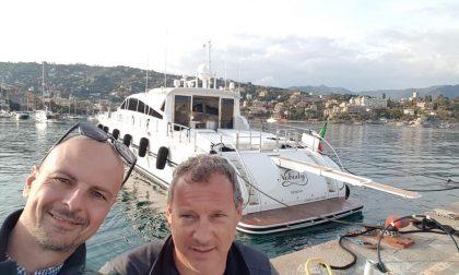 Santa Margherita, ecco il primo yacht dopo la mareggita