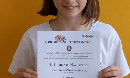 Arianna campionessa olimpica nazionale di Problem Solving