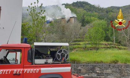 Appartamento a fuoco ad Avegno