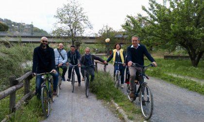 Biciclettata lungo l'Entella con Gino Garibaldi