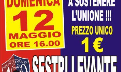 Sestri Levante, domenica allo stadio a 1 euro