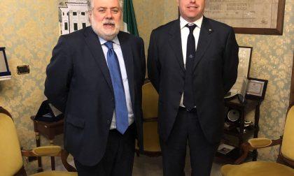 Di Capua incontra il nuovo questore di Genova, Vincenzo Ciarambino