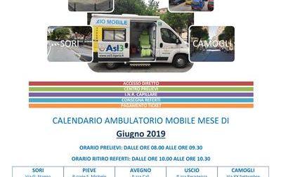 Ambulatorio mobile, gli orari di giugno