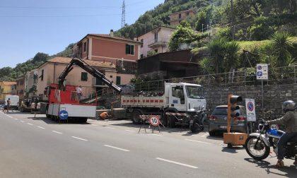Iniziati i lavori per i marciapiedi di Caperana