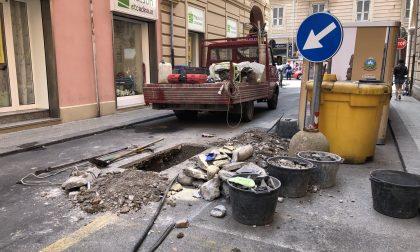 Via Marsala: disagi alla viabilità per lavori ai condotti