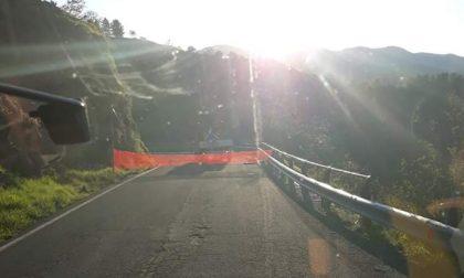 Chiusa per frana la strada della Val d'Aveto al Passo della Forcella