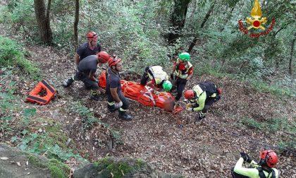 Soccorso escursionista caduto in una scarpata sul sentiero tra Montallegro e Rapallo