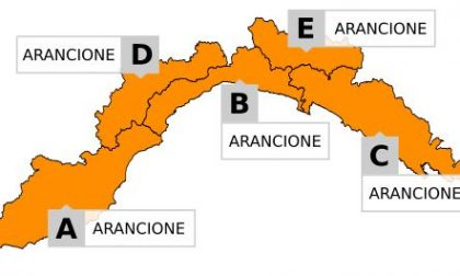 Allerta meteo, sarà arancione su tutta la Liguria